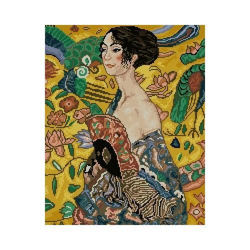 Wzór graficzny - Dziewczyna z wachlarzem - G.Klimt