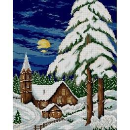 GC 6095 Wzór graficzny - Zimowy wieczór
