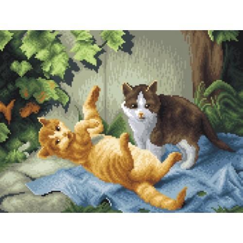 Wzór graficzny - Kotki