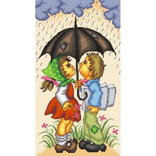 Wzór graficzny - W deszczowy dzień