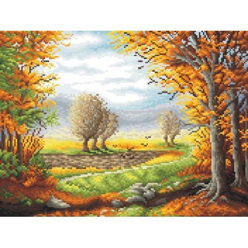 Wzór graficzny - Jesienny poranek wg. P. Gwoździewicza