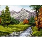 Wzór graficzny - Krajobraz górski wg Piotra Gwoździewicza