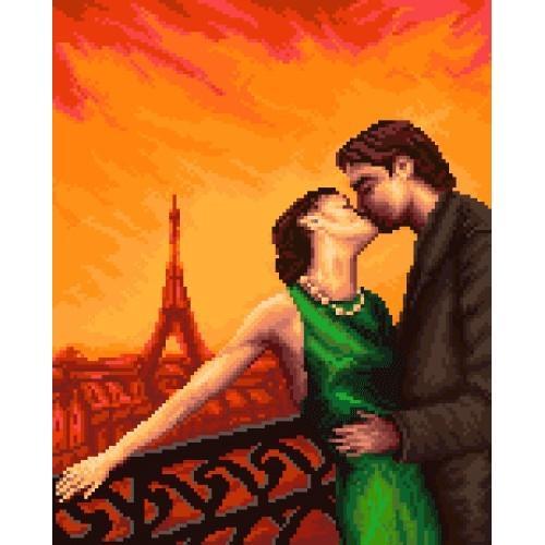 Wzór graficzny - Paryż - Zakochani