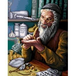 GC 7191 Wzór graficzny - Żyd liczący pieniądze wg P. Sobczyk