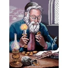 GC 7193 Wzór graficzny - Żyd liczący pieniądze wg P. Sobczyk