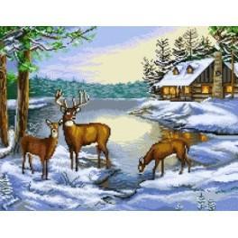 GC 7219 Wzór graficzny - Pejzaż zimowy