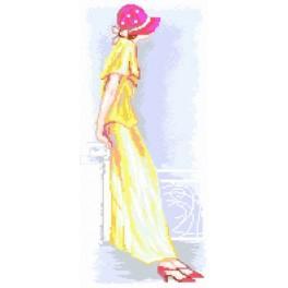 GC 7229 Wzór graficzny - Kobieta w kapeluszu
