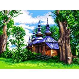 GC 7247 Wzór graficzny - Bieszczadzka cerkiew