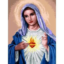 Wzór graficzny - Maryja z sercem