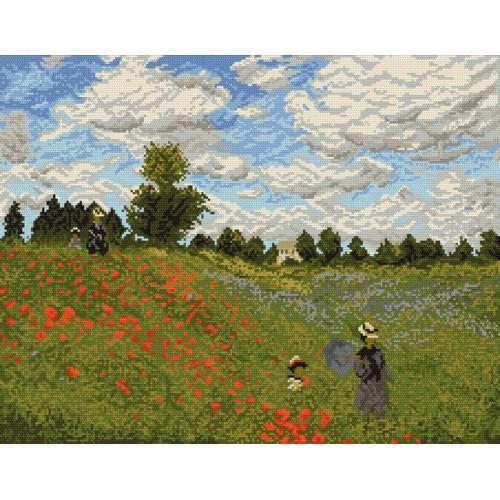 Wzór graficzny - Maki w pobliżu Argenteuil - Claude Monet