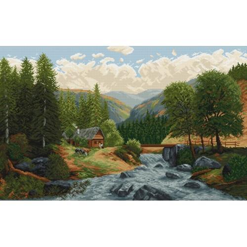 Wzór graficzny - Górski potok
