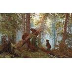 Wzór graficzny - Poranek w lesie - I. Szyszkin