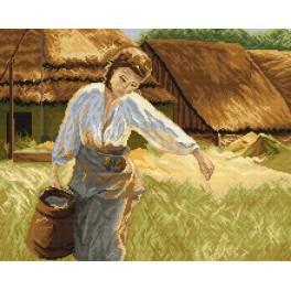Wzór graficzny - Dziewczyna z dzbanem - A. Kędzierski