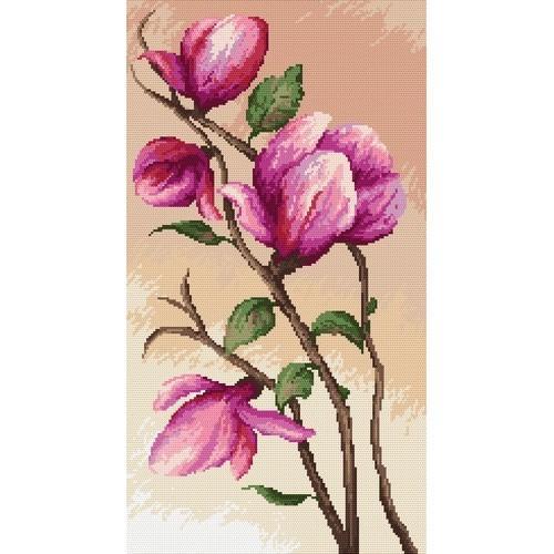 Wzór graficzny - Gałązka magnolii - B. Sikora-Małyjurek