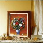 Wzór graficzny - Barwne kwiaty