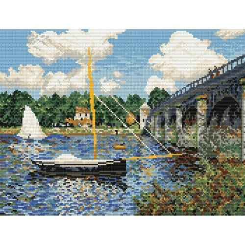 GC 800 Wzór graficzny - Most drogowy w Argenteuil - Claude Monet