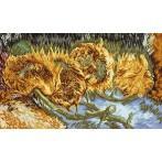 Wzór graficzny - Cztery ścięte słoneczniki - V. Van Gogh