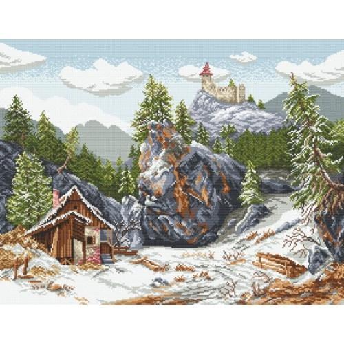 Wzór graficzny - Zamek w górach
