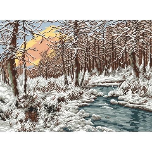 Wzór graficzny - Zimowy potok