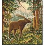 Wzór graficzny - łoś w lesie