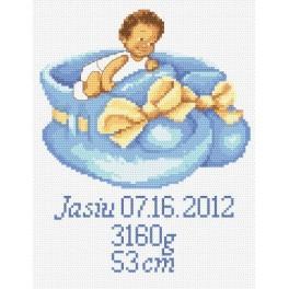 GC 8248 Wzór graficzny - Metryczka dla chłopca