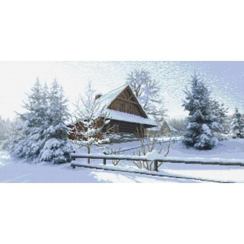 Wzór graficzny - Chata góralska - zima