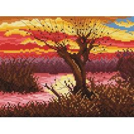 Wzór graficzny - Jesień nad stawem - Lena Rybica