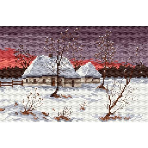 Wzór graficzny - Chata w zimie