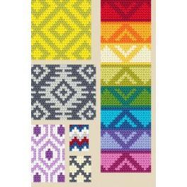 Wzór graficzny - Tapestry crochet - wzór powtarzalny