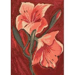 Wzór graficzny - Lilie różowe - A. Śliwa-Klara