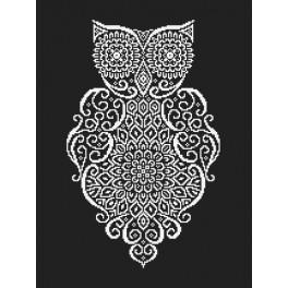 Wzór graficzny - Koronkowa sowa