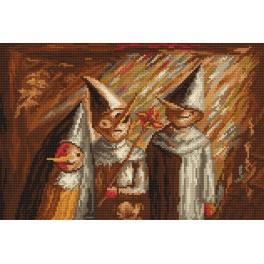 Wzór graficzny - Troje dzieci z kaduceuszem - T. Makowski