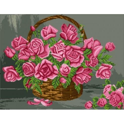 Wzór graficzny - Kosz z różami