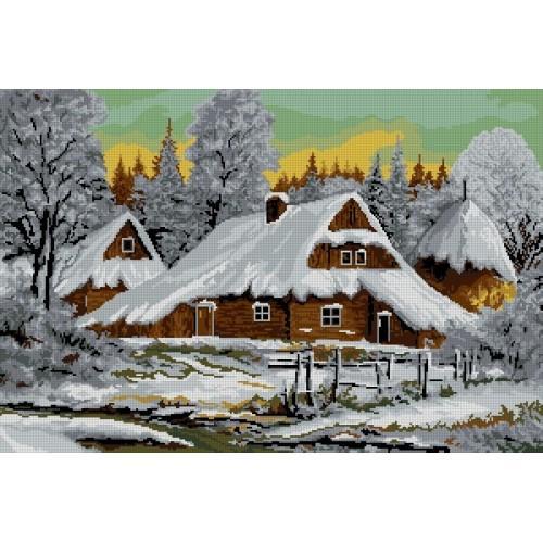 Wzór graficzny - Zimowy pejzaż