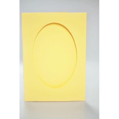 Duża kartka z owalnym psp żółta