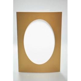 Duża karta z owalnym psp złota