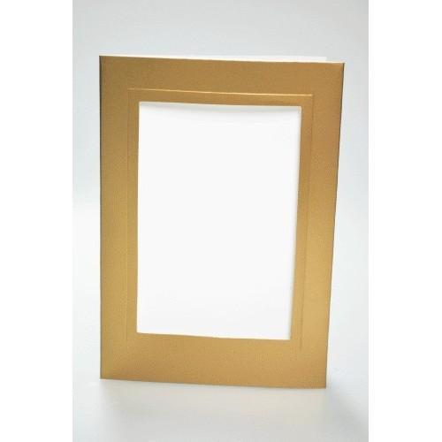 Duża kartka z prostokątnym psp złota
