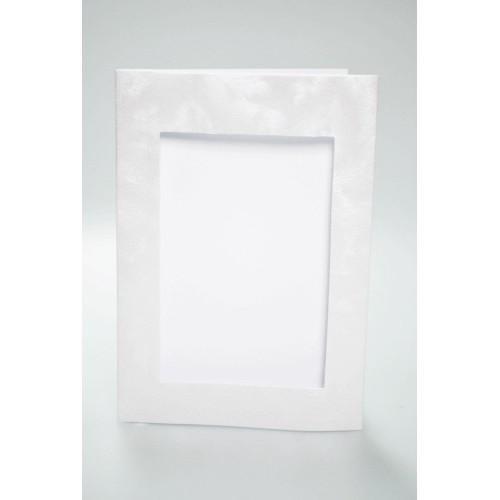 Duża karta z prostokątnym psp perłowa