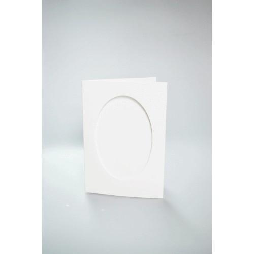 Karta z owalnym psp biała