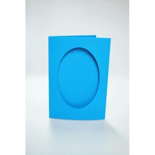 Karta z owalnym psp błękitna