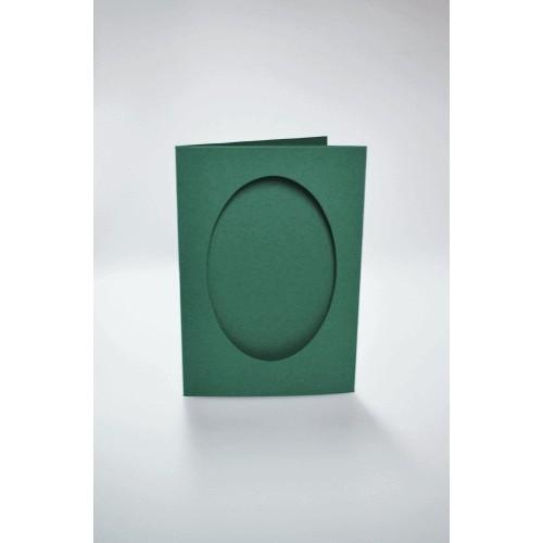 943-03 Kartki z owalnym psp ciemno zielone
