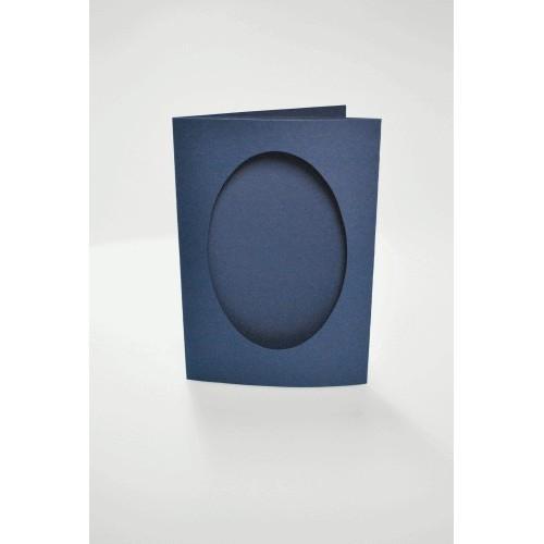 943-05 Kartki z owalnym psp granatowe