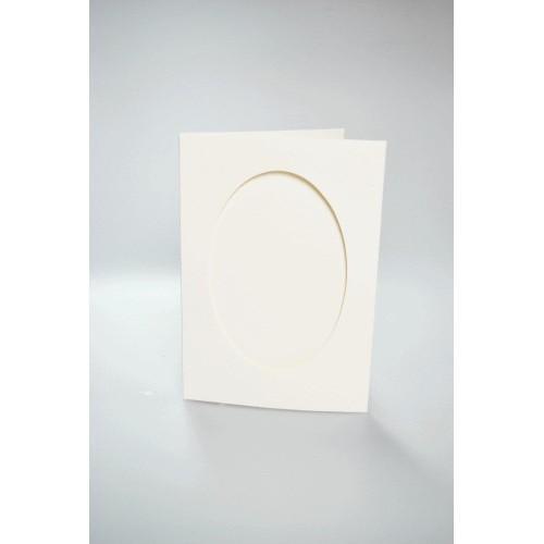 Karta z owalnym psp kremowa