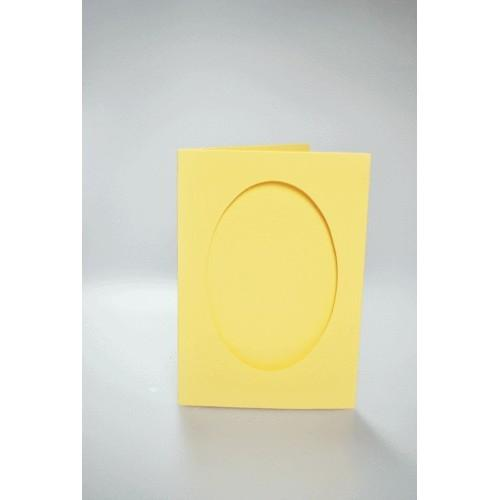 Kartki z owalnym psp żółte