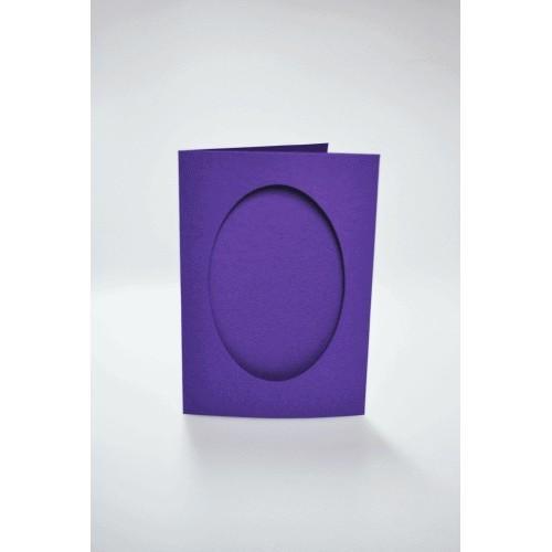 Kartki z owalnym psp fioletowe