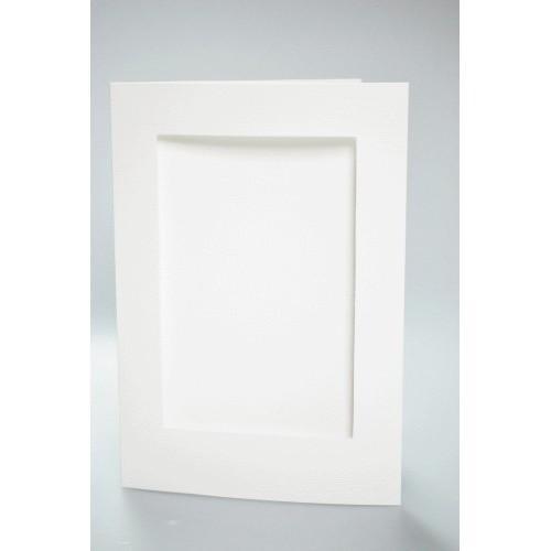 Duża kartka z prostokątnym psp biała