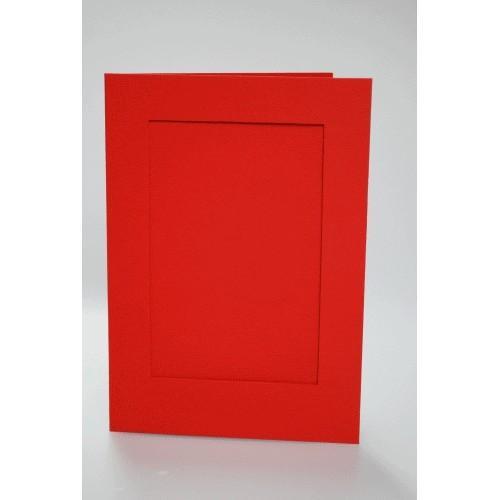 Duża karta z prostokątnym psp czerwona