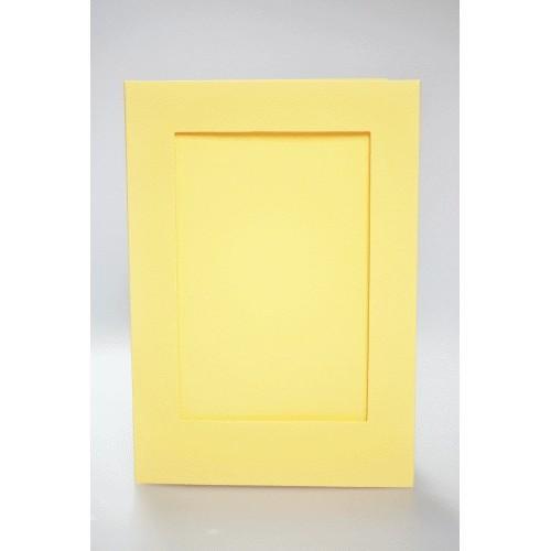 Duża kartka z prostokątnym psp żółta
