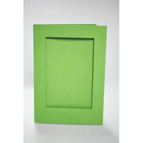 Duża karta z prostokątnym psp jasnozielona