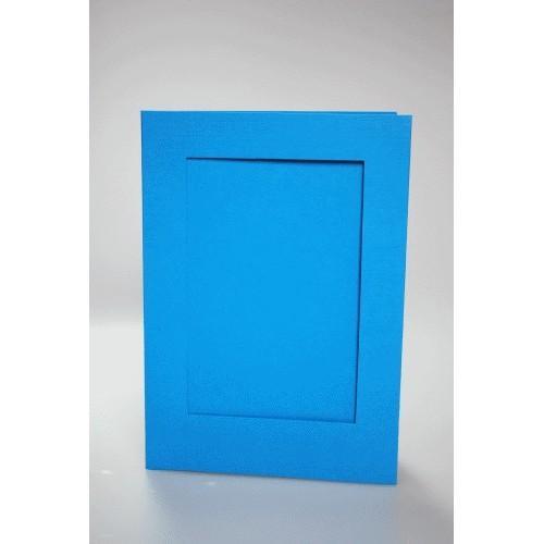 Duża kartka z prostokątnym psp błękitna